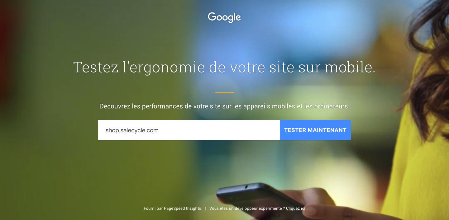 Outil de test mobile Google
