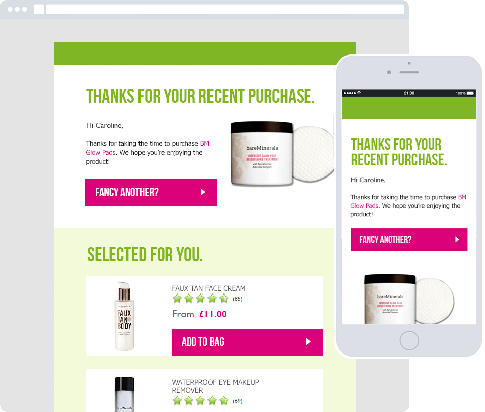 Post Purchase Emails - Product Replenishment