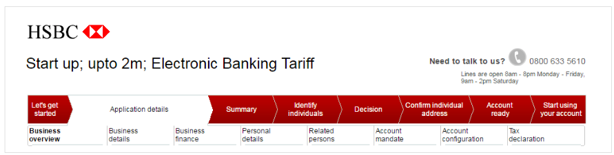 HSBC progress tracker