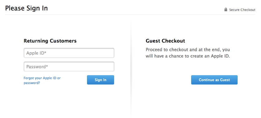 guest checkout can reduce cart abandonment