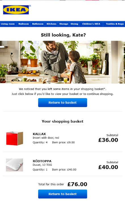 ikea email salecycle blog