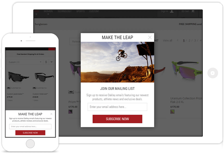 Oakley email acquisition