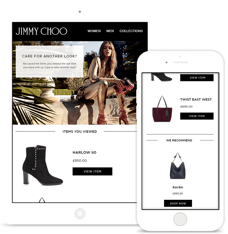 Jimmy Choo browse reminders