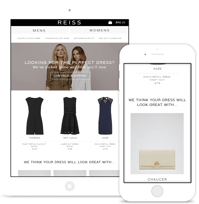 Reiss browse abandonment email