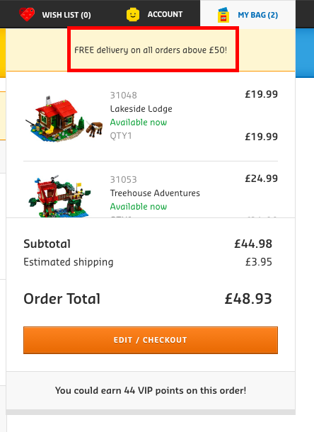 Free delivery email