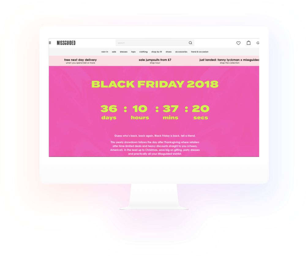 Black Friday countdown for early interest