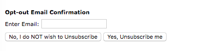 Email Unsubscribe link