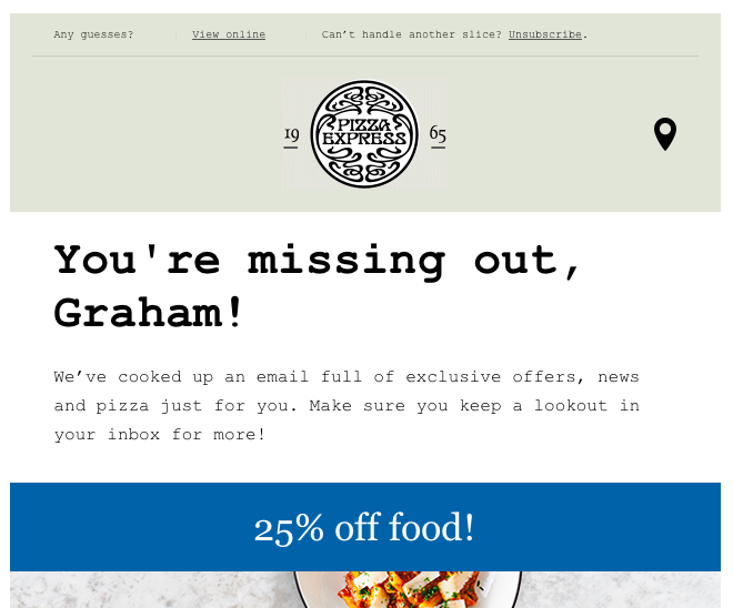 Email Unsubscribe Pizza Express