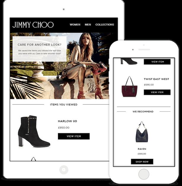Jimmy Choo Cart abandonment email