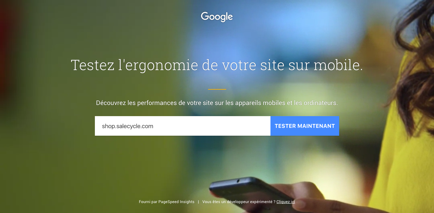 Outil de test mobile Google