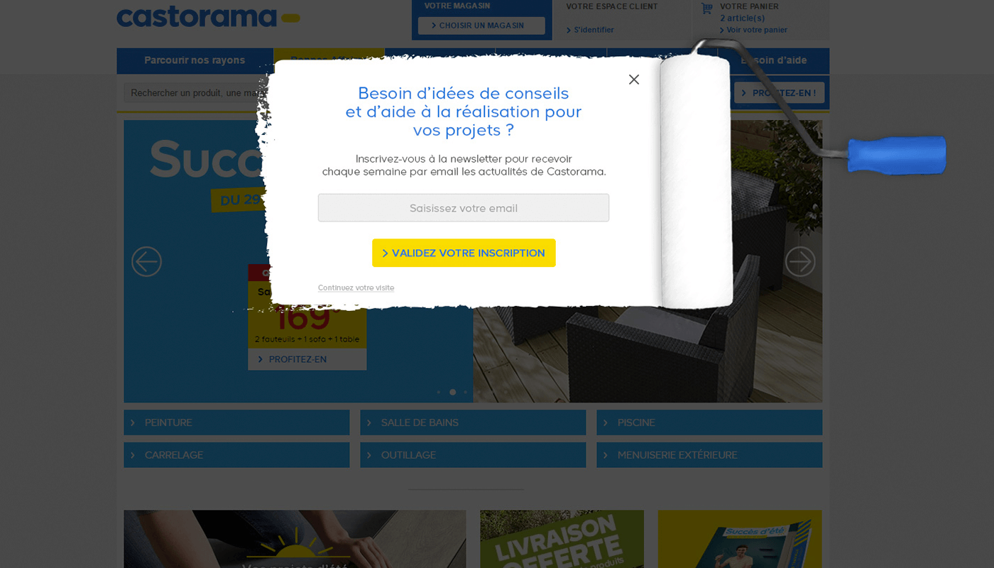 Exemple d'on-site remarketing booster vos conversions