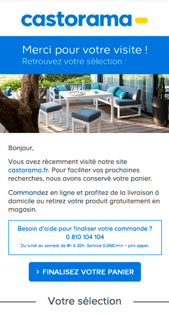 Exemple d'email booster vos conversions