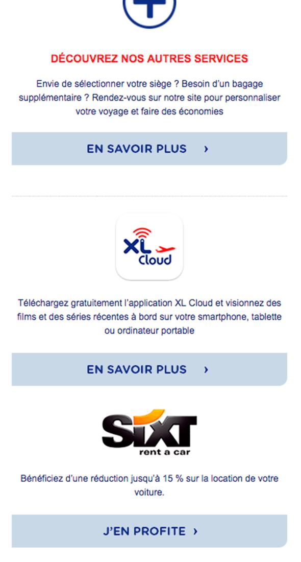 Exemple d'email de fidélisation client pour mobile