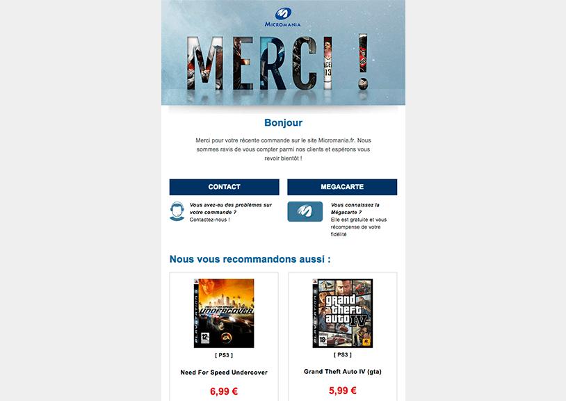 Exemple d'email de fidélisation client