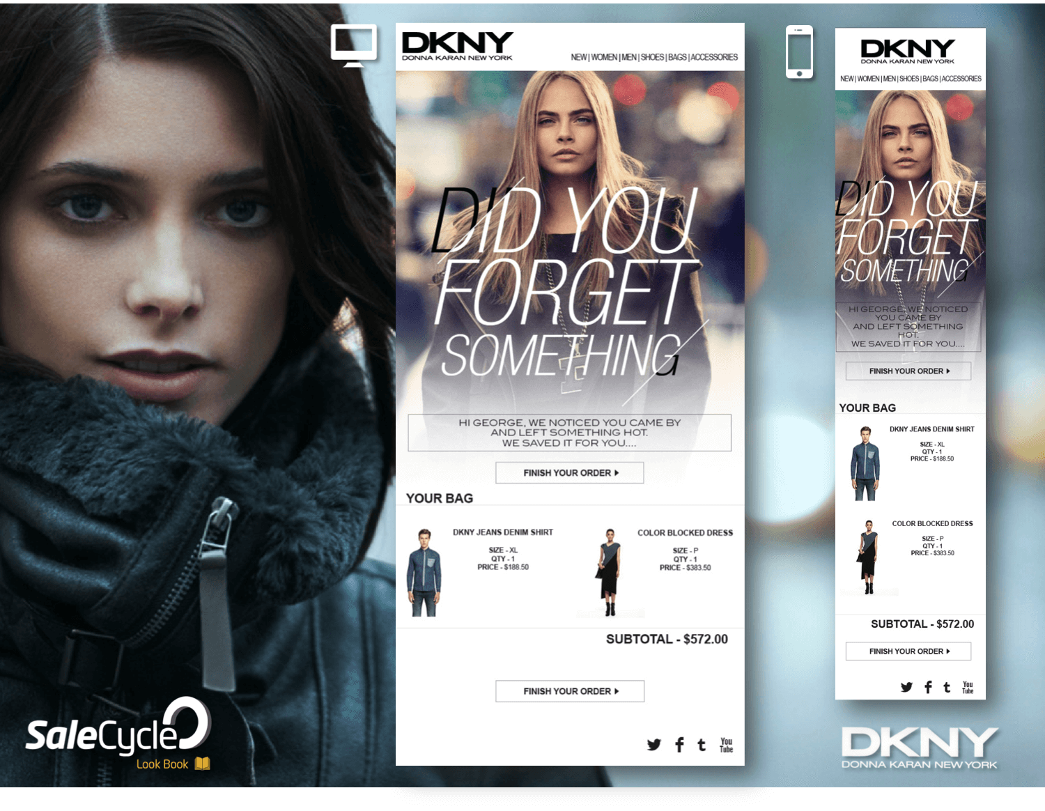 DKNY's Abandoned Cart Email