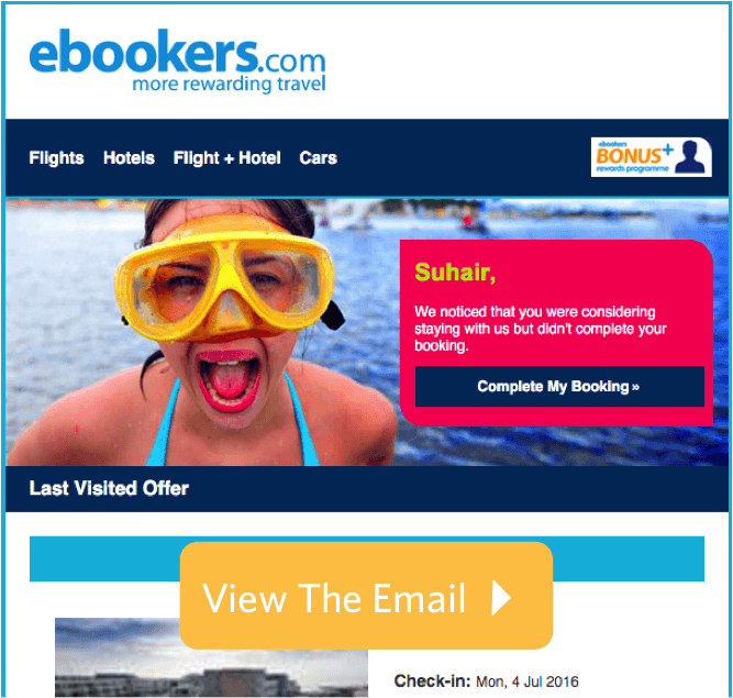 Ebookers Email Preview