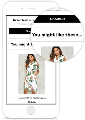 recommendations in cart abandonment emails