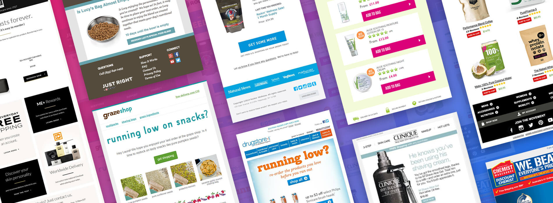 11 Examples of Replenishment Emails from Retailers
